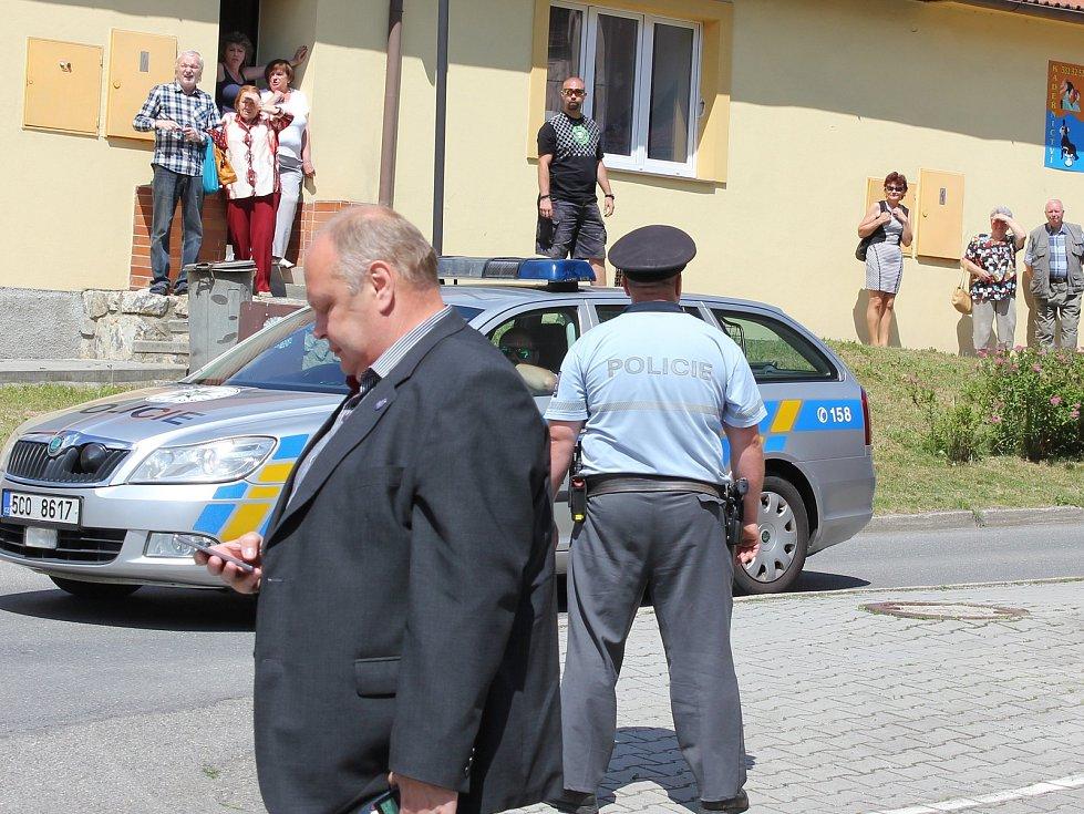 Prezident v Milevsku.
