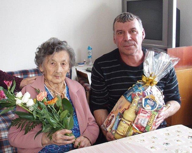 Devadesáté narozeniny Boženy Keřlíkové ze Záhoří.