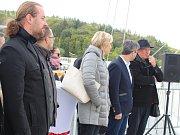 Slavnostní převzetí lávky Dagmar Šimkové v Písku.