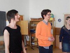 Dvojice učitelů němčiny vZŠ Záhoří D. Hauserová a M. Reinert.