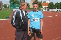 Chyšecký Patrik Bouška (vpravo) se Stanislavem Hoffmanem