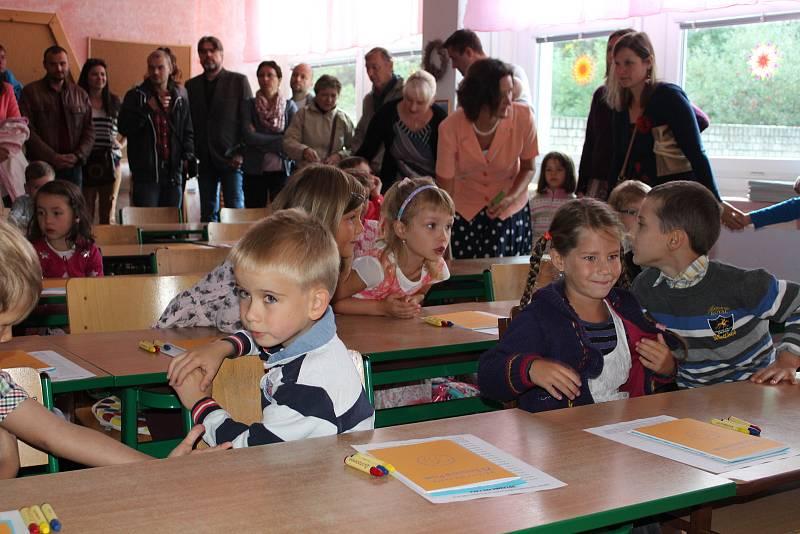 První školní den na Základní škole Svobodná v Písku.