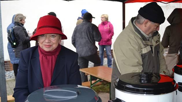 Setkání u adventních věnců v Čimelicích.