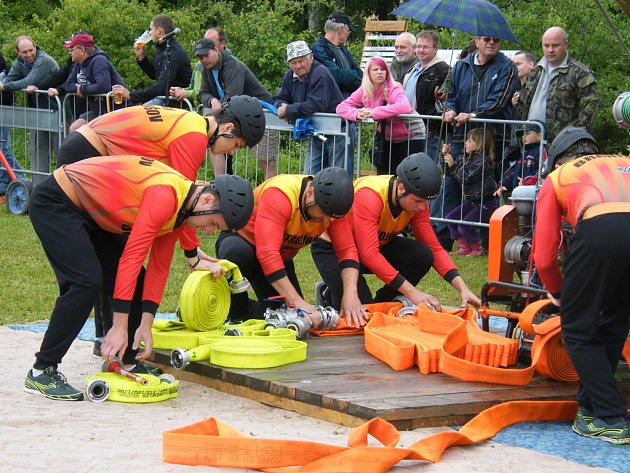 V Žernovicích nedaleko Prachatic se uskutečnilo první kolo Šumavské hasičské ligy a třetí kolo Jihočeské hasičské ligy.