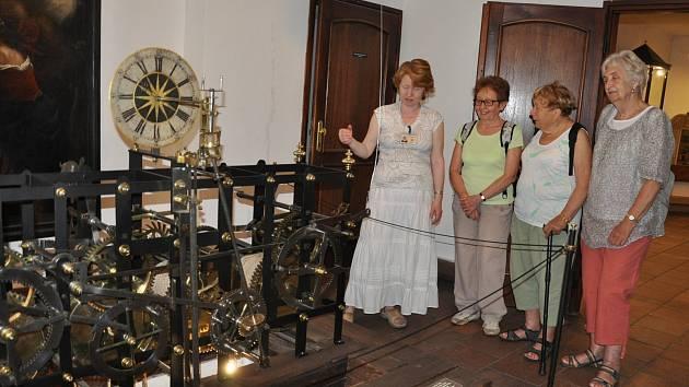 Historické hodiny v Prácheňském muzeu v Písku.