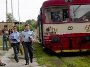 Srážka vlaků ve Vráži u Písku.