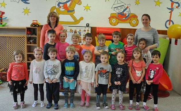 Děti z8. Mateřské školy vPísku - Červená třída