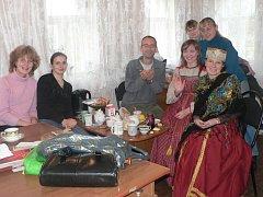 Libor Drahoňovský na návštěvě v ruské rodině.