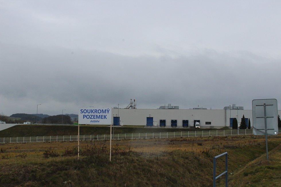 Písek, průmyslová zóna. Ilustrační foto