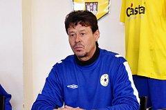 Trenér A-mužstva FC Písek Rostislav Grossmann.