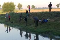 Dětský rybářský den v Nevězicích.