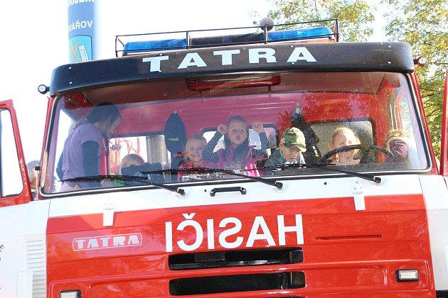 Drakiáda, den otevřených dveří ve vodárně a ukázky nových hasičských vozidel a techniky.