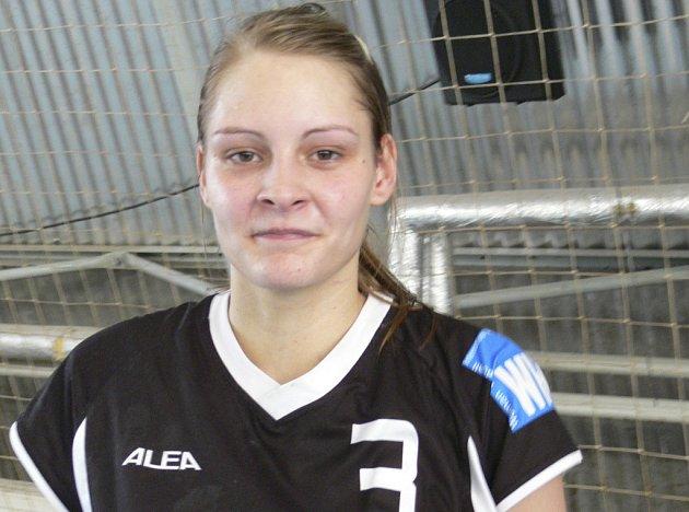 Kateřina Vrabcová svým dobrým výkonem a sedmi vstřelenými brankami přispěla k vítězství družstva Písku nad Jindřichovým Hradcem v utkání interligy žen v házené.