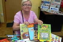 Marie Korecká z Písku přinesla 24 knih.