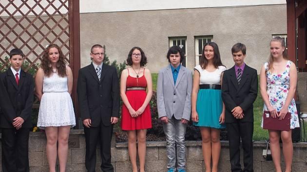 Deváťáci z 1.ZŠ Milevsko převzali vysvědčení.