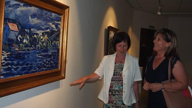 Výstava obrazů děl ze Špálova modrého období.