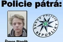 Kriminalisté pátrají po mladistvém Šimonu Staňkovi.
