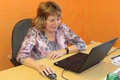 Primářka hematologicko – transfuzního oddělení Nemocnice Písek Helena Kubánková během on-line rozhovoru.