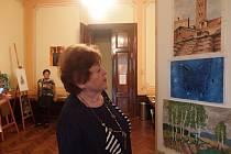 Výstava studentek výtvarného oboru Akademie III. věku při ZUŠ Otakara Ševčíka v Písku.
