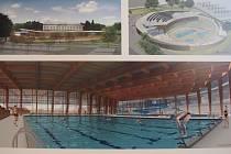 Výstava návrhů nového bazénu ve Sladovně.