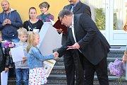 Začátek školního roku v Kovářově.