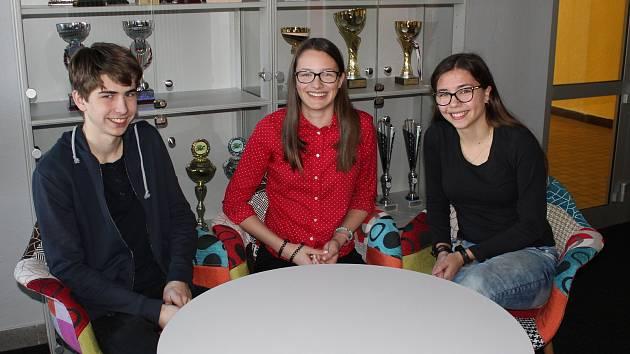 Tomáš Zadražil, Kateřina Bernasová a Markéta Srbová uspěli v soutěži Talent Jihočeského kraje.