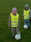 Děti si užily fotbalové dopoledne s TJ Hradiště.