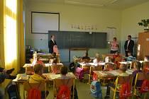 První školní den v Čížové.