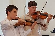 Dětský soubor Musica Marcato pod vedením Veroniky Kopecké.