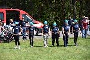 Hasičská okrsková soutěž v Borovanech.
