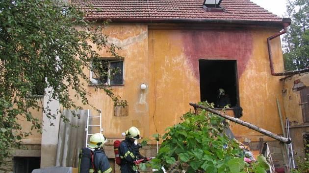 V Písku hořelo v rodinném domě.