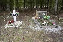 Hřbitov psů v lese u Topělce.