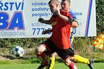 O tomto víkendu pokračují okresní fotbalové soutěže další zápasy podzimní sezony. Náš snímek je z minulého utkání III. třídy mužů TJ Božetice B - Sokol Hrazánky.