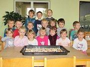Děti z mateřinky na Hradišti.