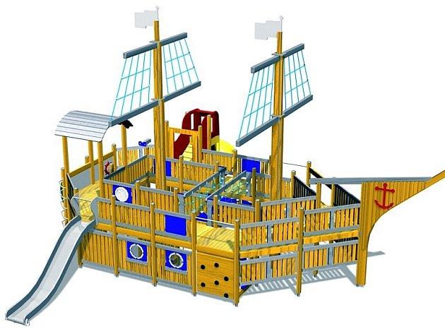 Pirátská loď - z katalogu firmy Onyx Wood
