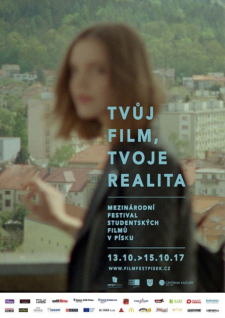 Plakát na Mezinárodní festival studentských filmů vPísku.