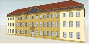 Vizualizace finální podoby půdní vestavby obchodní akademie