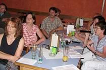Kulturní fórum v Divadelní kavárně v Písku - 24.6. 2008.