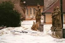 Povodně v Písku v roce 2002