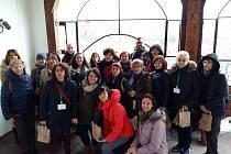 Projektový tým z České republiky, Španělska, Polska, Rumunska a Velké Británie na radnici ve Slupsku.