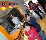 Školní jídelna v Mirovicích.