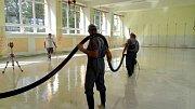 Rekonstrukce tělocvičny v ZŠ Mikoláše Alše Mirotice.