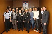 Písecké policisty a kriminalisty ocenil policejní prezident Jan Švejdar.