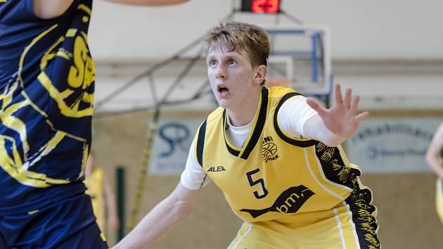 Kapitán písecké basketbalové sedmnáctky Jakub Šurý.