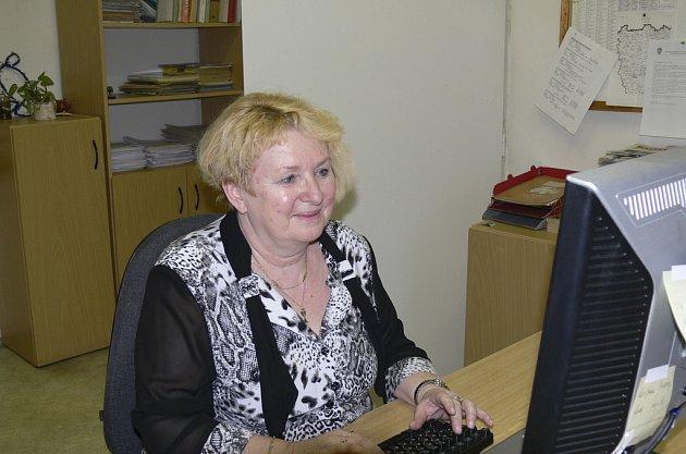 Miluše Štojdlová při on-line rozhovoru v redakci Píseckého deníku.