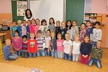 Prvňáčci ze třídy 1.A  II. Základní školy J. A. Komenského v Milevsku.