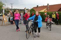 Zahájení jihočeské cyklistické sezony ve Zvíkovském Podhradí.