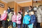 Návštěva dětí z mateřské školy na Obecním úřadu Záhoří.