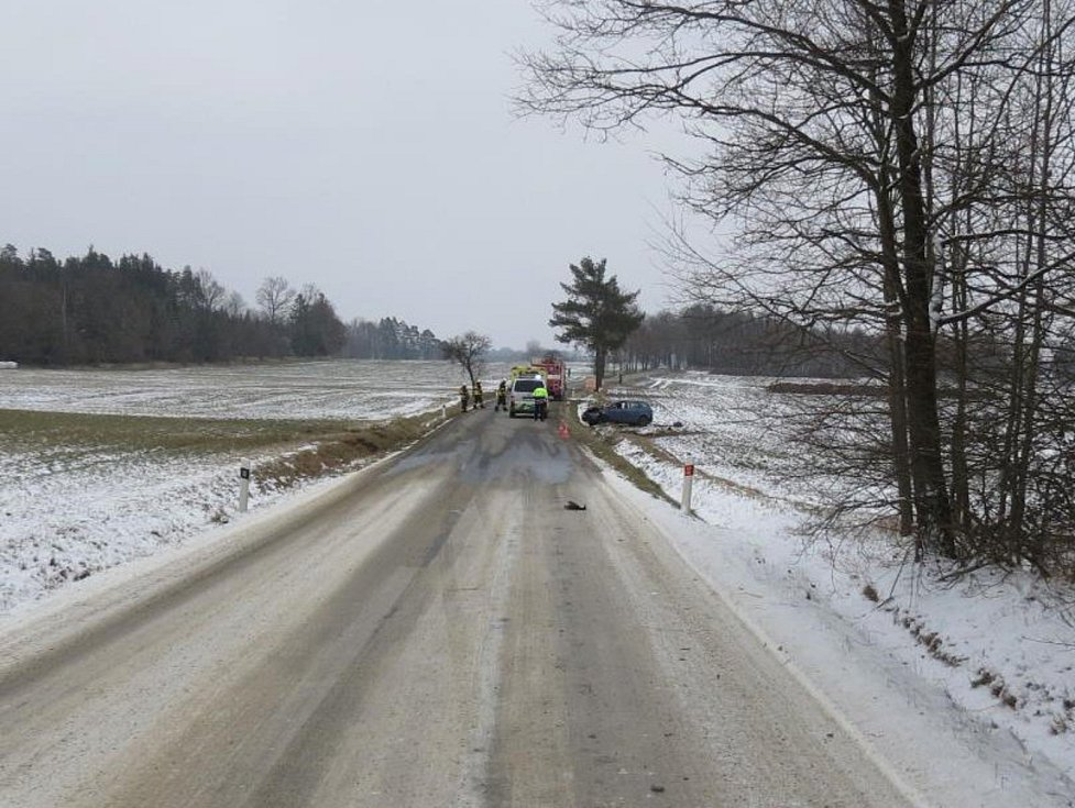 Dopravní nehoda na Kostelecku měla tragické následky. Spolucestující z havarovaného vozidla zemřela po dvou dnech v nemocnici na následky zranění. Stala se tak pátou obětí dopravních nehod na jihu Čech od začátku roku 2018.