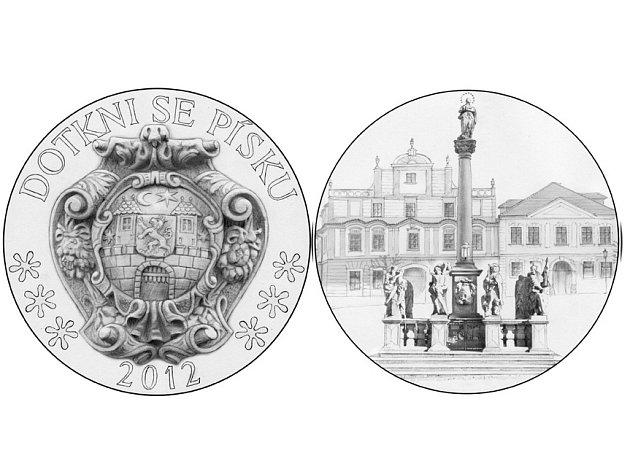 výtvarné návrhy na minci ke slavnosti 2012 sochaře Vl.Oppla před realizací